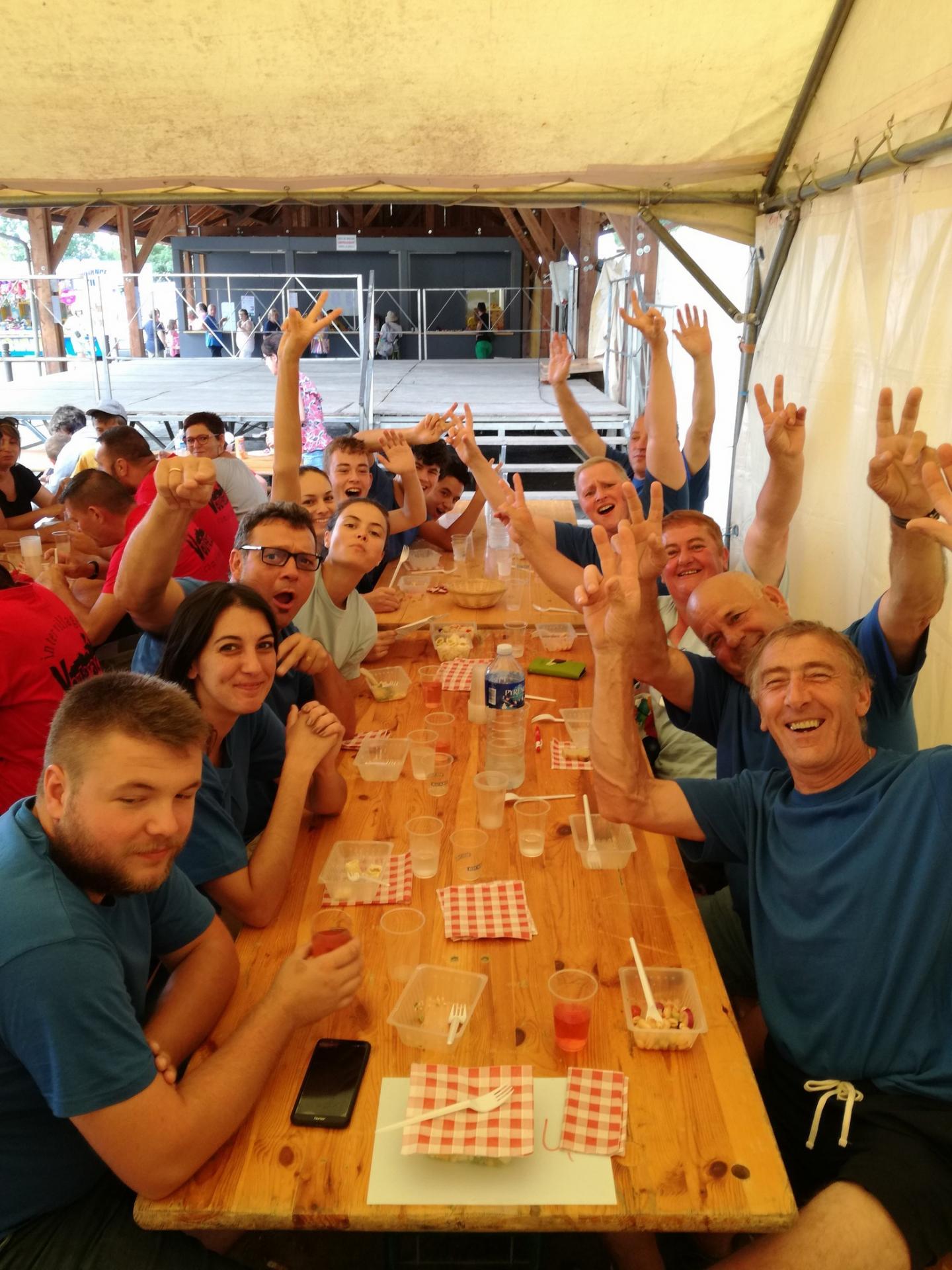 6 équipes joyeuses à l'inter-villages 2018